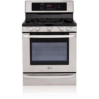 LG 5.4 CF Stainless Steel Gas Range and Convection Oven
