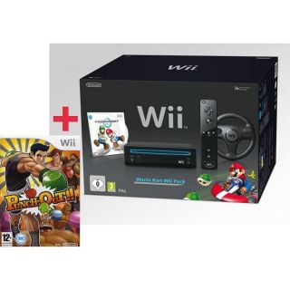 PACK WII NOIR MARIO KART + PUNCH OUT    Achat / Vente WII PACK WII