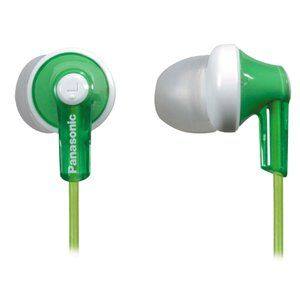 Panasonic RPHJE120G In Ear Headphone, Green Electronics