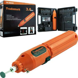Trademark 60 piece 3.6 volt Rotary Tool Set with Rechargeable Battery
