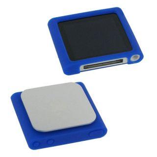 rooCASE Blue Silicone Skin Case for Apple iPod nano 6th Generation