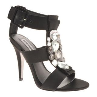 Womens Steve Madden Ozziee Black Satin Today $98.95