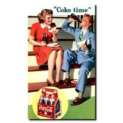 Coke Time Vintage Hanging Canvas Wall Art