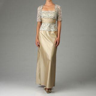 JS Collections Womens Taffeta/Lace Bolero Dress