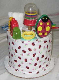 1 Tier Ladybug Baby Diaper Cake Baby