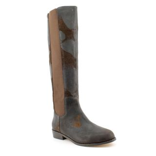 KORS Michael Kors Womens Val Distressed Leather Boots Was $199.99