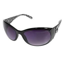 Guess Womens Black Rhinestone Embellished Logo Sunglasses