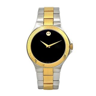 Movado Mens Trevi Stainless Steel Black Dial Watch