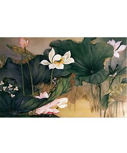 Su Yue Lee Lotus Pond I, Stretched Canvas