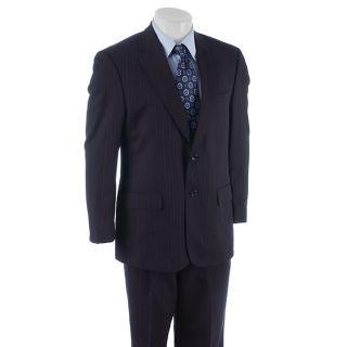 Bill Blass Mens Navy Stripe Suit