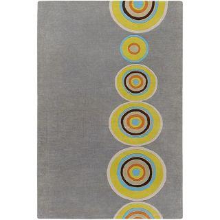 Hand tufted Contemporary Multi Colored Circles Geometric Vibrant New