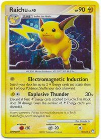 II Mysterious Treasures Holofoil Rare Card Raichu 15/123: Toys & Games