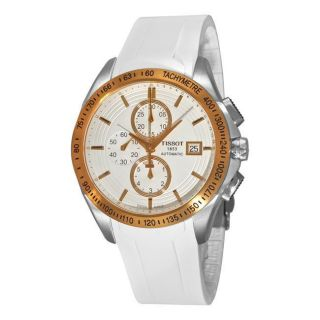 Tissot Mens Veloci T Automatic White Rubber Strap Chronograph Watch