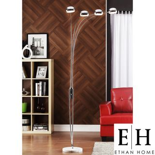 ETHAN HOME Modern Silver Chrome Arch Lamp
