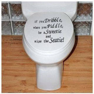 SODIAL  Toilet Seat Decal Wall Art Wallpaper Hanging