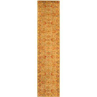 Handmade Classic Kasha Gold Wool Runner (23 x 14)