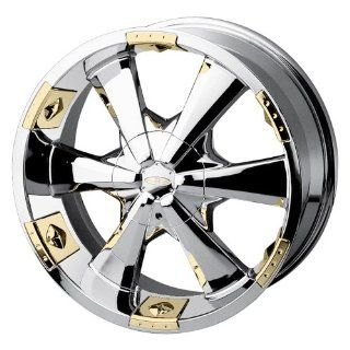 Baccarat Allure 2120 Chrome Wheel with Gold Facet (22x9.5/10x127mm