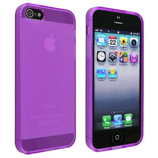 BasAcc Frost Clear Purple TPU Case for Apple iPhone 5