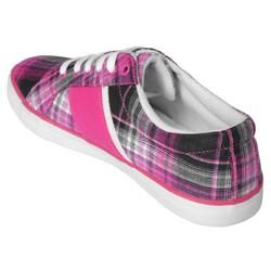 Beverly Hills Polo Womens Backshot Plaid Sneakers