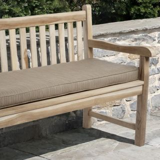 Clara 60 inch Outdoor Textured Latte Bench Cushion Made with Sunbrella