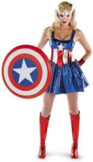 Captain America Deluxe Female Costume: Clothing