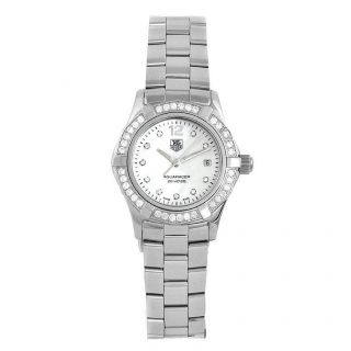 TAG Heuer Womens Aquaracer Stainless Steel Diamond MOP Dial Watch