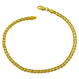 14k Yellow Gold Double Solid Rope Bracelet