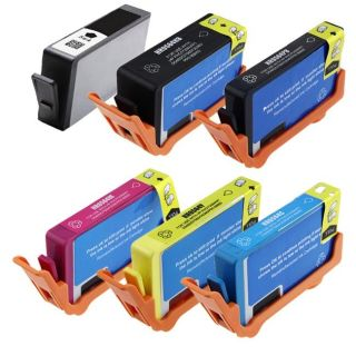 piece Black/ Color Ink Cartridges for HP 564XL (Remanufactured