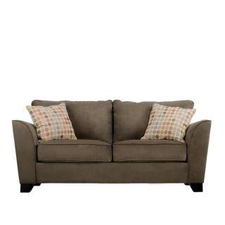 Gaft Modern Dark Moss Green Microfiber Sofa