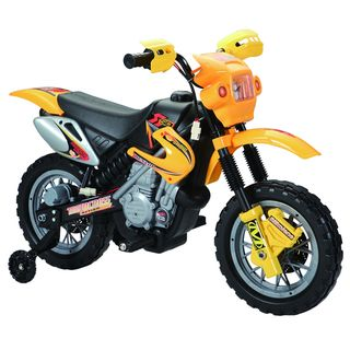 Dirt Bike Yellow 6 Volt Battery Operated Ride on