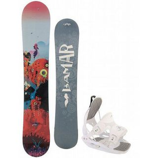Lamar Storm 149 cm Womens Snowboard with Flow Muse Bindings