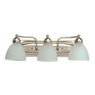 Transitional 3 light Brushed Nickel Bath Wall Sconce