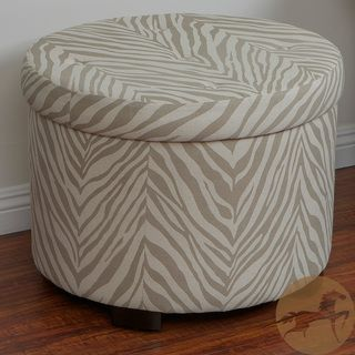 Christopher Knight Home Cordova Zebra Shoe Storage Ottoman
