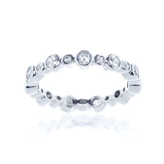 Sterling Silver Round Cubic Zirconia Eternity Band