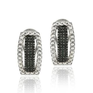 DB Designs Sterling Silver 1/3ct TDW Black Diamond Earrings