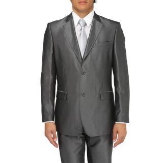 Coloris  gris anthracite. Costume 2 pièces  veste 2 boutons, col
