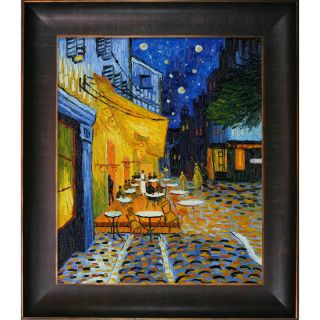 Van Gogh Cafe Terrace at Night Hand painted Framed Canvas Art