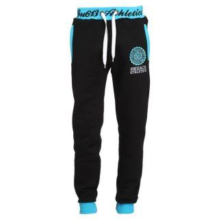 GANGSTER UNIT Pantalon de Jogging Homme Noir et turquoise   Achat