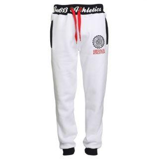 GANGSTER UNIT Pantalon de Jogging Homme Blanc et marine   Achat