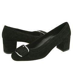 Vaneli Rosetta Black Suede Pumps/Heels