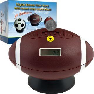 TG   Alcancía con contador de monedas digital, diseño de pelota de
