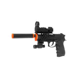 Electric Full Auto Tactical M9 Pistol Flashlight Blowback Airsoft Gun