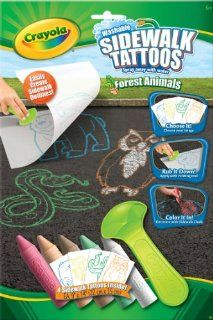 Crayola Sidewalk Tattoos Forest Animals Toys & Games
