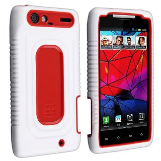 White/ Red Duo Shield Case for Motorola Droid RAZR XT910/ XT912