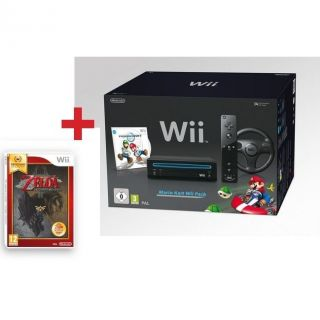 PACK WII NOIR MARIO KART + THE LEGEND OF ZELDA   Achat / Vente WII