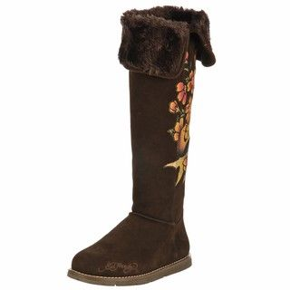 Ed Hardy Womens Himalaya 2 Faux Fur High Boots FINAL SALE