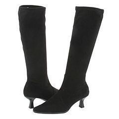 Vaneli Lindly Black Super Stretch Suede Boots