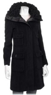 Perry Ellis Womens PortfolioBlack Wool/Angora Walker, 10