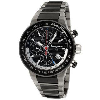 Salvatore Ferragamo Mens F 80 Titanium/ Black Ceramic Watch