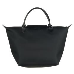 Longchamp Planetes Black Nylon Tote Bag